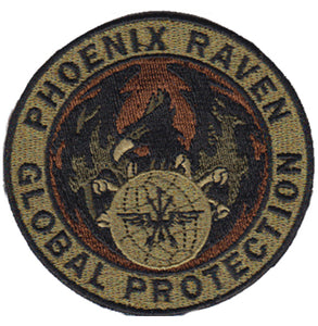 Security Forces Spice Brown Phoenix Raven Patch - 2 Pack