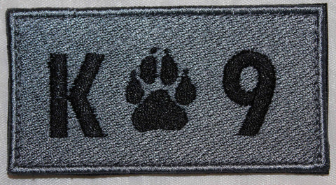 Image of K - 9 Rectangle Light Grey Patch - 2 Pack