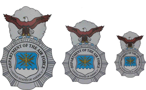 Colored Security Police / Security Forces Badge Sticker