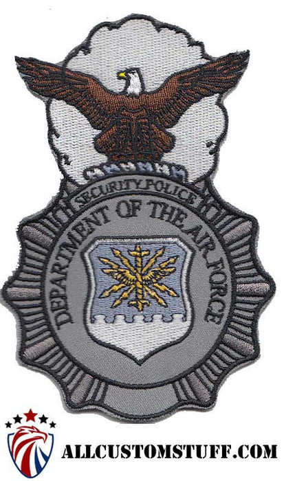 USAF Security Police (SP) Badge Color Patch