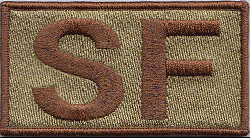 Spice Brown Border Security Forces Shoulder SF OCP Velcro Patch - 2 Pack