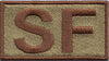 Spice Brown Border Security Forces Shoulder SF OCP Patch - 2 Pack