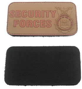 Security Forces Rectangle Gear - Brown PVC Patch