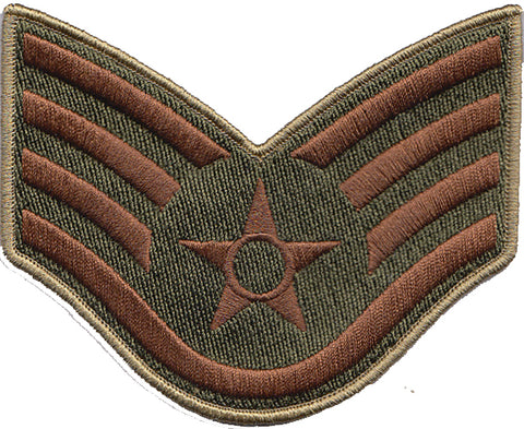 Custom Air Force OCP / Multicam USAF Large Rank Patch - 2 Pack