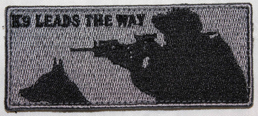 Shooter - Grey K9 Leads the Way Velcro Patch  - 2 Pack