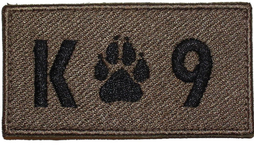 K - 9 Rectangle Brown Patch - 2 Pack