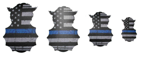 Image of Custom Security Forces Badge - Thin Blue Line Sticker