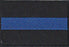 Thin Blue Line Rectangle Patch