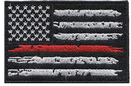 US Flag - Thin Red Line Custom Patch