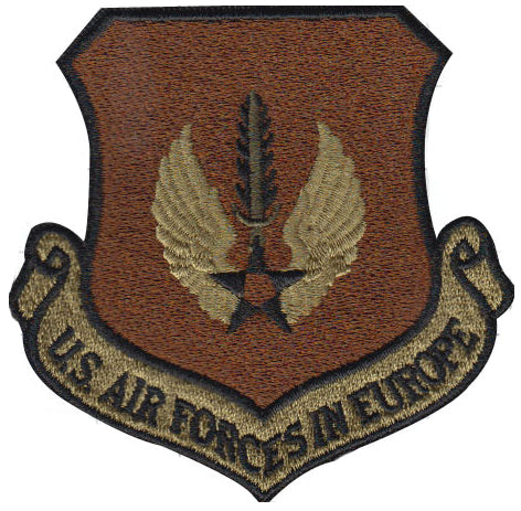 Air Forces in Europe Command (USAFE) Majcom Spice Brown OCP Patch - 2 pack