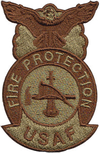 USAF Fire Protection (Fire Department) Multicam/OCP Patch - 2 Pack