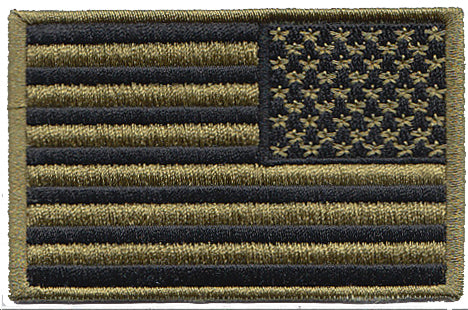 USA Black/Green Reverse OCP/Multicam US Flag Velcro Patch