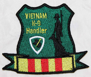 Vietnam K-9 Handler Custom Patch - 2 Pack