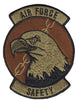 Air Force Wing Safety Badge OCP Spice Brown Velcro Patch - 2 Pack