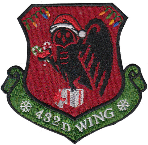 Image of Custom Holiday 432D Wing Morale Patch - 2 Pack (1 Color / 1 OCP)