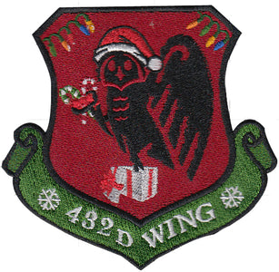Custom Holiday 432D Wing Morale Patch - 2 Pack (1 Color / 1 OCP)