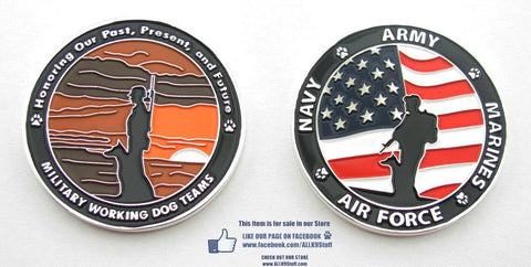 Military Working Dog Heritage Challenge Coin