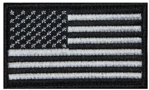 American Flag Black Patch  - 2 Pack