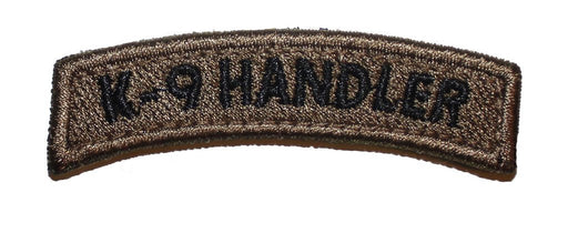 K-9 Handler Tab Brown Velcro Patch - 2 Pack