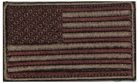 American Flag Brown Patch  - 2 Pack