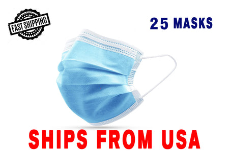 3ply Disposable Personal Protective Face Mask 25/50