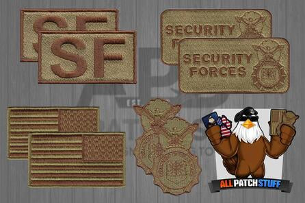 USAF Starter OCP Security Forces / Defender 8 Patch Bundle