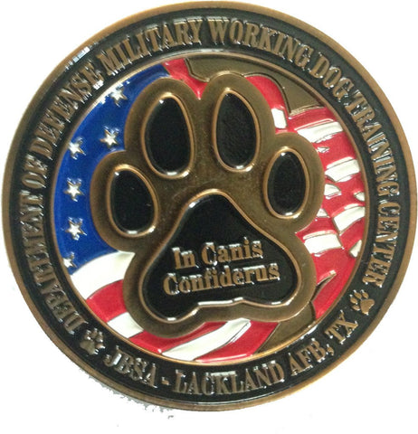 Image of Guardians of the Night K9 MWD LE Challenge Coin - USAF USMC USN USA TSA DOD