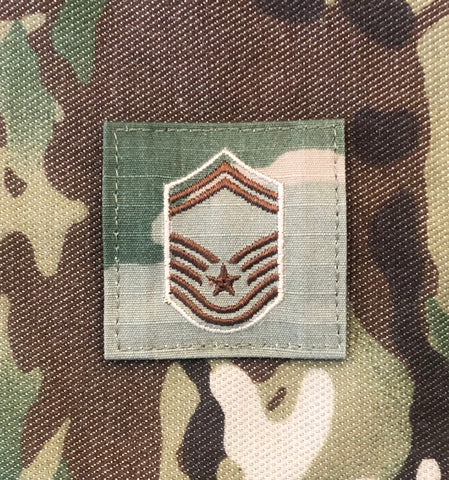 Air Force OCP Rank with hook - Senior Master Sargent (SMSgt/E8) - 2 pack