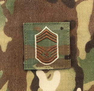 Air Force OCP Rank with hook - Chief Master Sargent (CMSgt/E9) - 2 pack