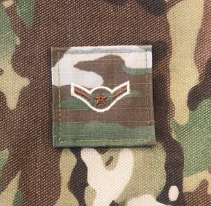 Air Force OCP Rank with hook - Airman (Amn/E2) - 2 pack