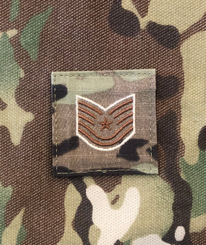 Air Force OCP Rank with hook - Technical Sergeant (TSgt/E6) - 2 pack