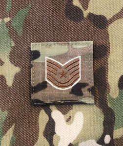 Air Force OCP Rank with hook - Technical Sargent (TSgt/E6) - 2 pack