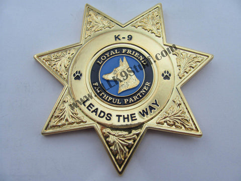 Image of Law Enforcement K9 Badge / Coin