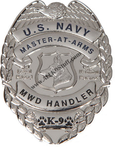 Navy MA K-9 Badge / Coin