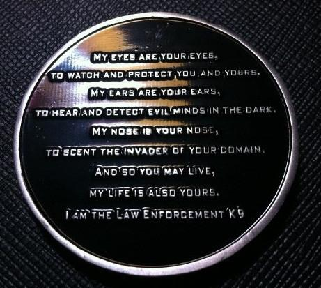 Image of Law Enforcement Canine Challenge Coin