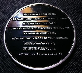 Law Enforcement Canine Challenge Coin