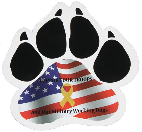 Image of Support the Troops and MWD Magnet