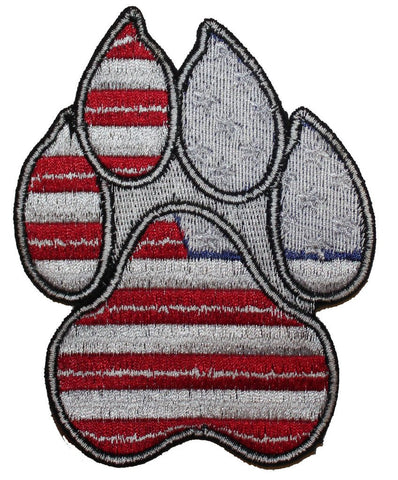Image of Large American Flag Paw Patch - 2 Pack