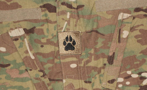Image of K9 Square Paw Brown Patch - 2 Pack