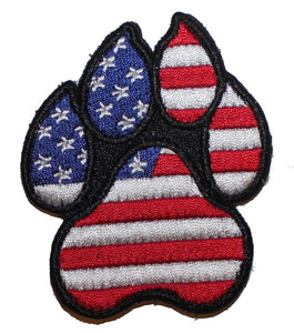 American Flag K9 Paw - Small - 2 Pack