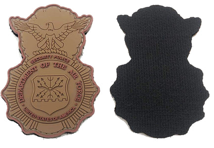 Security Forces Badge - Brown PVC Patch