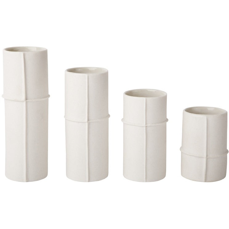 Bud Vase Set of 4 - Raw - Maissone