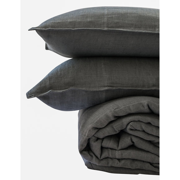 Linen Bed Spread - Slate - Maissone - 1