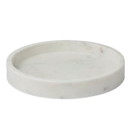 Round Cararra Marble Tray
