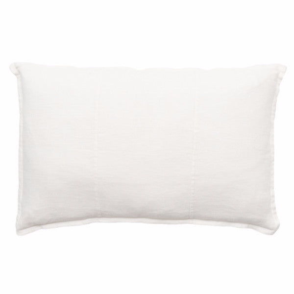 Luca Linen Rectangle Cushion White - Maissone