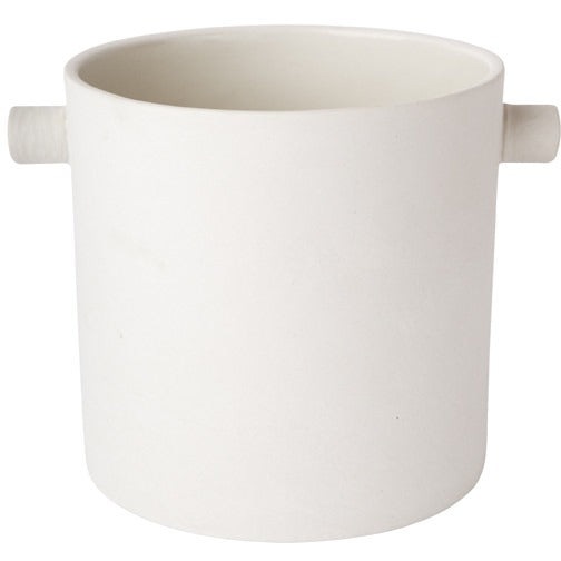 Handle Pot Large White