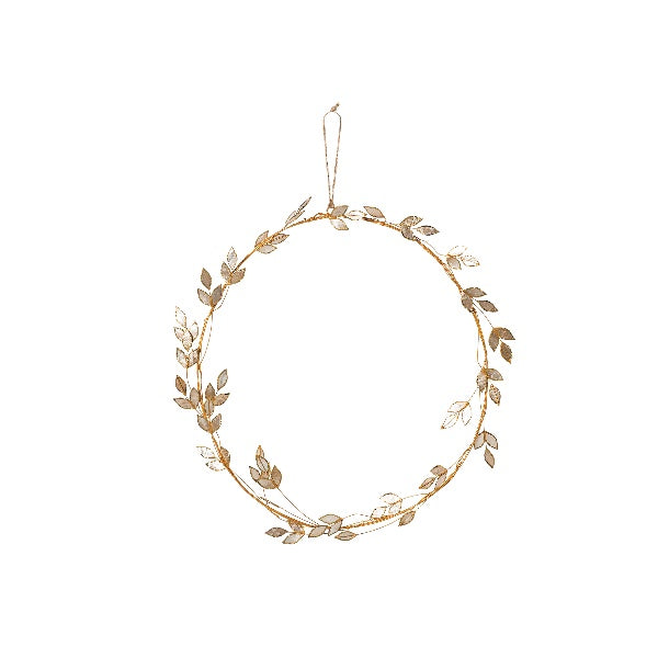 Capiz Leaf Wreath Gold L - Maissone