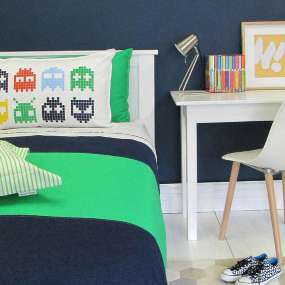 Duvet Denim + Green