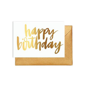 Happy Birthday Gold Card - Maissone