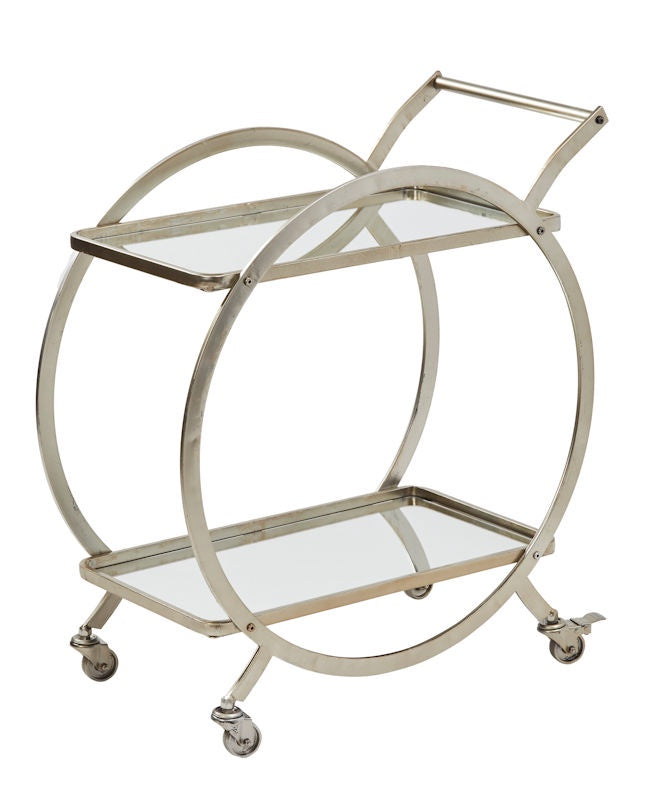 Walter Bar Cart Silver
